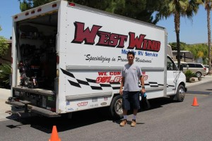 Mike Chavez with West Wind Mobile RV Service